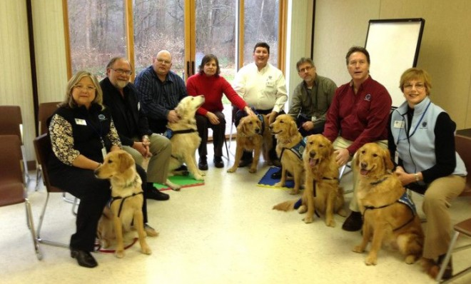The K-9 Parish Comfort dogs (and their handlers) who helped the residents of Newtown, Conn., through their grief.