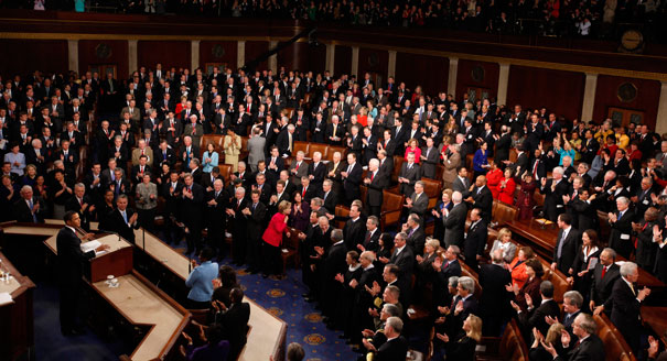 State of the Union speech 2013. AP photo.