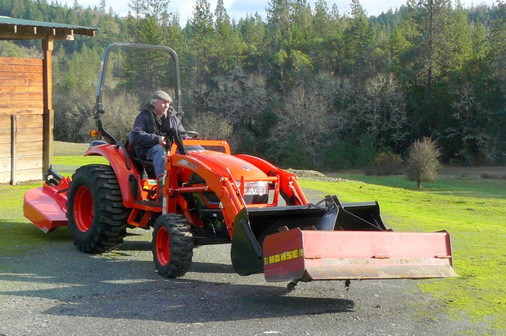 New tractor being delivered last December.