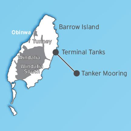 Barrow Island, Australia.  Taken from the Chevron Australia website.