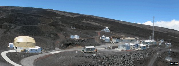 Key measurements are made on top of the Mauna Loa volcano