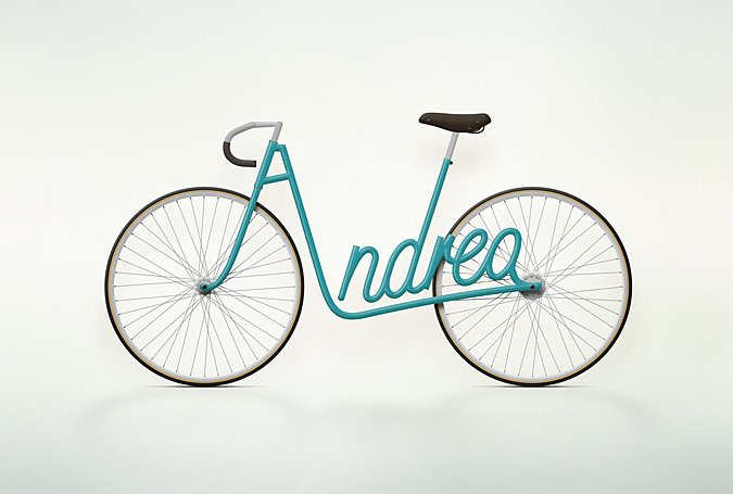 At least it's easy for Andrea to find where she left her bicycle!