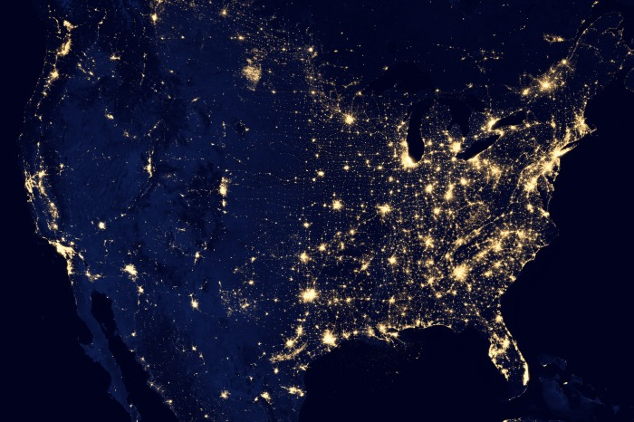 North America burning bright - an image from NASA.