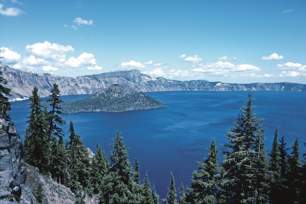 Crater Lake showing Wizard Island.
