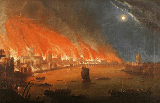 Great Fire of London. September 2nd-5th, 1666.