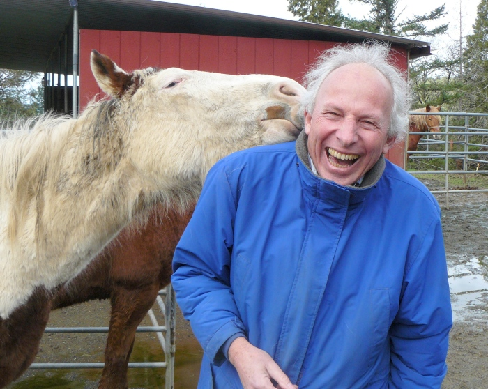 Trust me, a horse with its tongue in your ear is very ticklish!