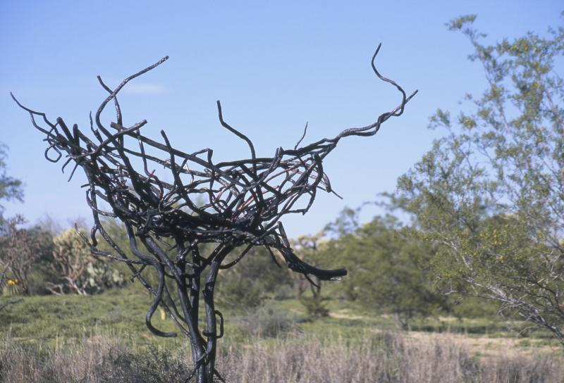Empty Nest Forged and welded steel, copper, bronze, and stainless steel.