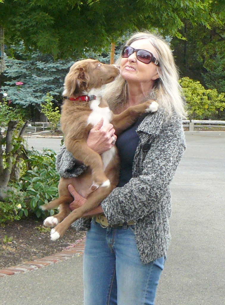 Loving each other: woman and dog!