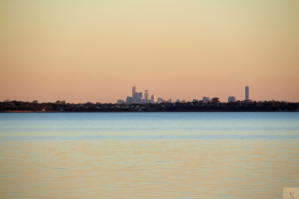 Brisbane City from Woody Point.