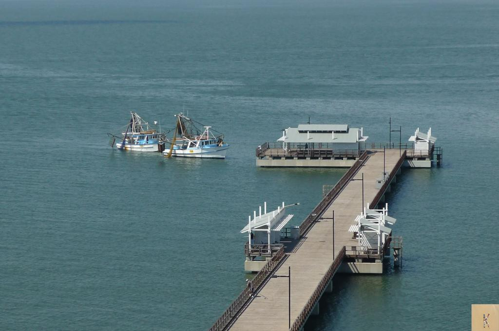 View of the jetty from Point Plaza.
