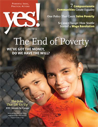 Cover of the current issue of YES!
