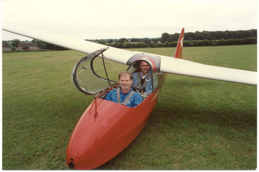 A K-7 two-seat glider.
