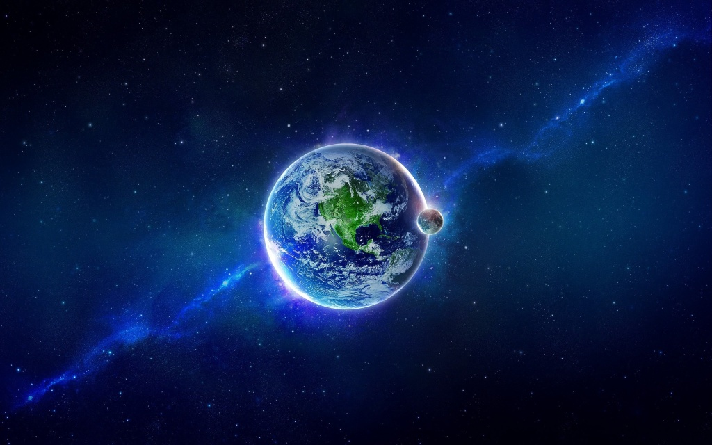 space-graphics-planet-earth-stars-moon-3d