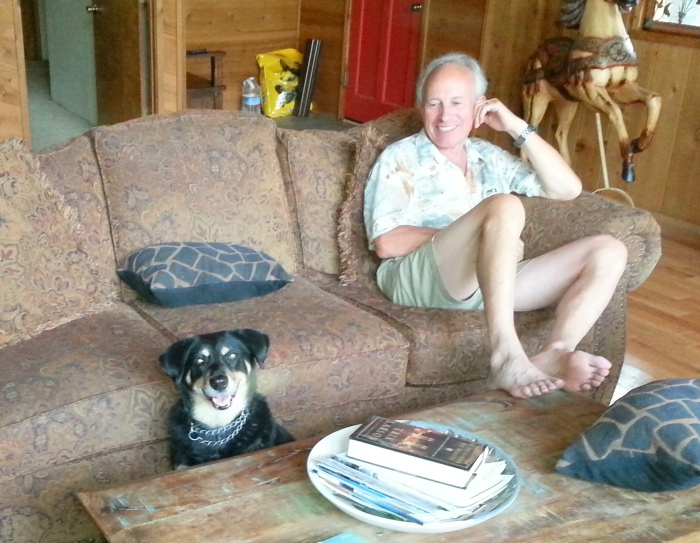 Picture taken by our guest Don Reeve of Hazel (and me) Wednesday afternoon.