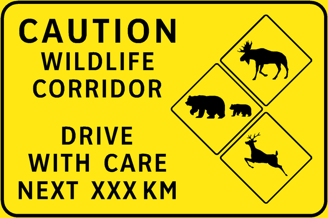 Take it up a notch? The British Columbia Ministry of Transportation recently started to add signs warning motorists when they are likely to encounter wildlife. British Columbia Ministry of Transportation, CC BY-NC-ND