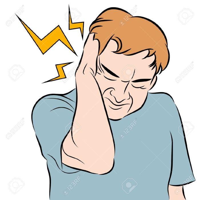12963392-An-image-of-a-man-with-a-headache--Stock-Vector-headache-earache-cartoon