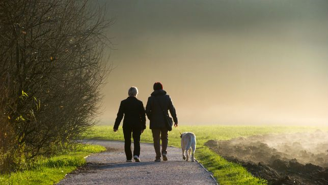 Researchers find that just 25 minutes of walking each day can trigger the anti-aging process. (Photo: Nejc Vesel/Shutterstock)