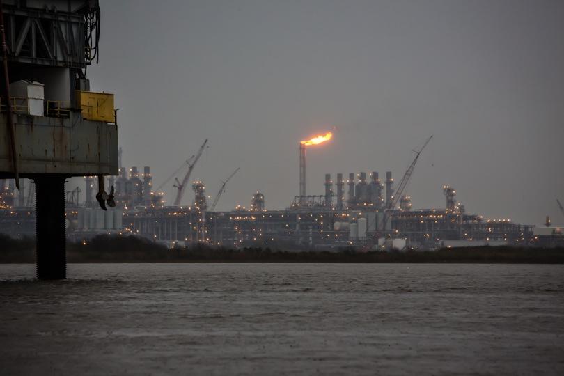 A flare at Cheniere Energy Sabine Pass LNG facility. ©2016 Julie Dermansky
