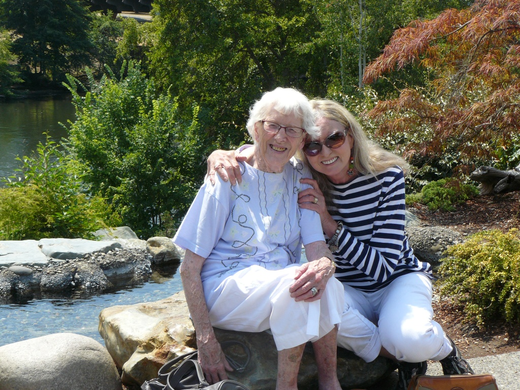 Mum and Jeannie - photo taken 31st July, 2014 here in Oregon.