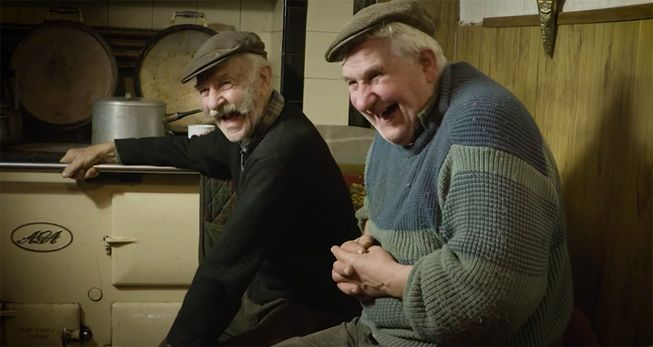 Welsh farmers Howell and Gerwyn George's secret to a rich life is plain to see: just enjoy a good laugh! (Photo: Riverlea/YouTube)