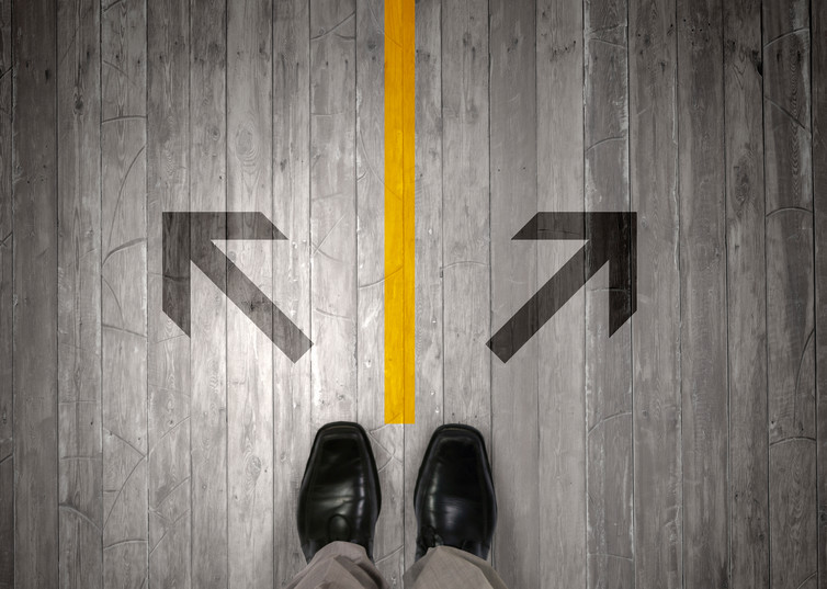 One way or another? Feet image via www.shutterstock.com.