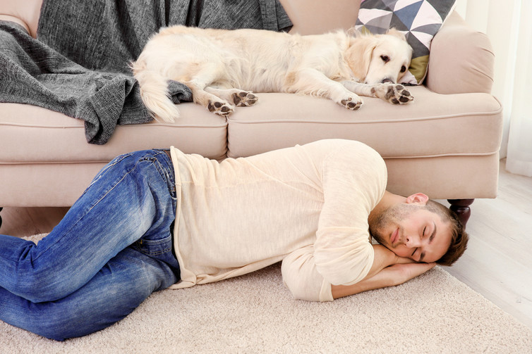 Man and his best friend. From www.shutterstock.com